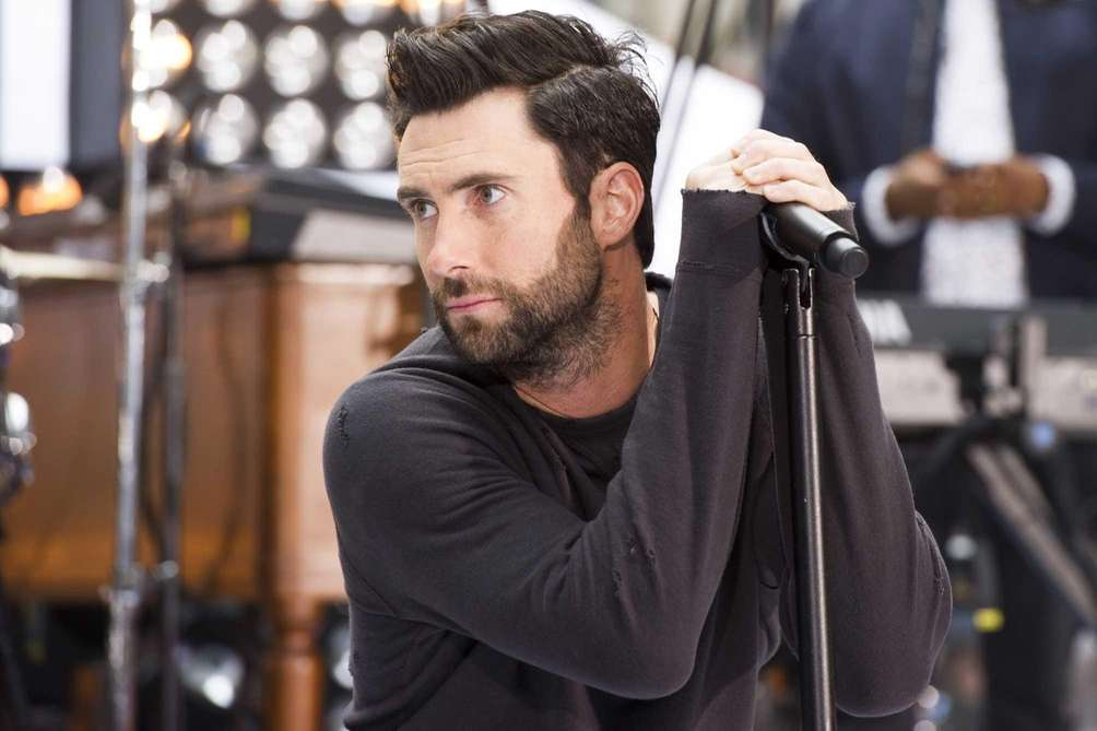 Adam Levine performs with Maroon 5 on NBC's