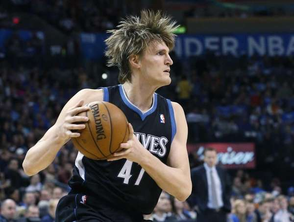 Minnesota Timberwolves forward Andrei Kirilenko, of Russia, drives
