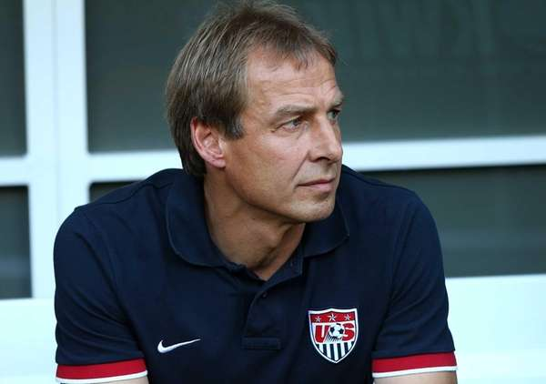 United States head coach Jurgen Klinsmann watches on