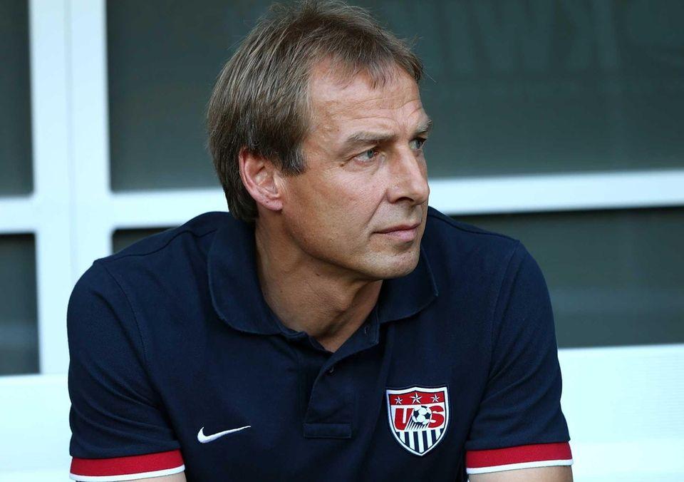 United States head coach Jurgen Klinsmann watches on