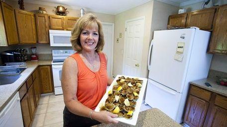 In her Eastport kitchen Bridget Napoli shows off