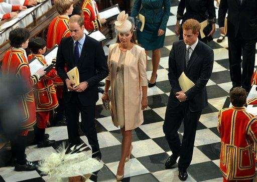 Britain's Duke and Duchess of Cambridge and Prince