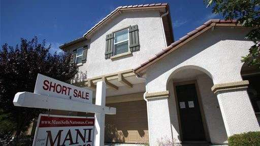 A short sale home is seen in Sacramento,