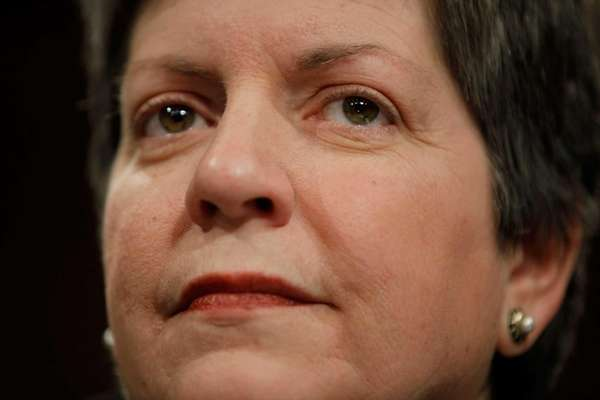 Homeland Security Secretary Janet Napolitano testifies before the