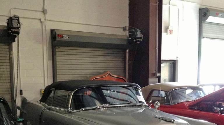 A classic Cadillac sits on display at Exotic