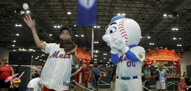 Mr. Met will be on hand to welcome