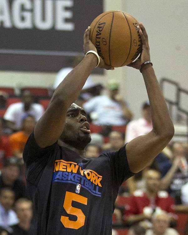 Knicks guard Tim Hardaway Jr. shoots against the