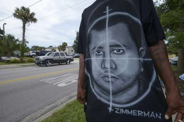 A man who identified himself as Ike wears