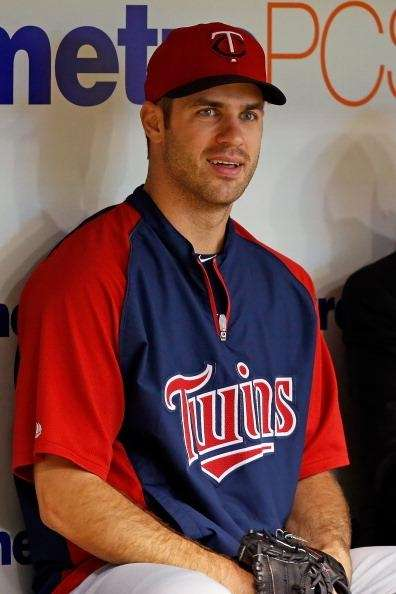 Catcher Joe Mauer #7 of the Minnesota