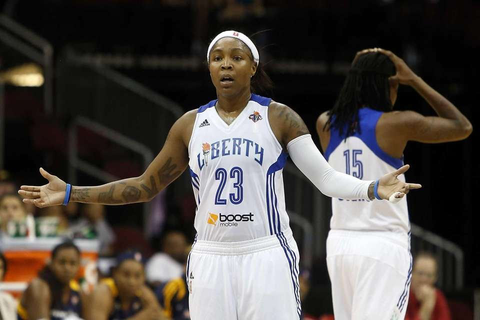 Liberty's Cappie Pondexter and Toni Young react to