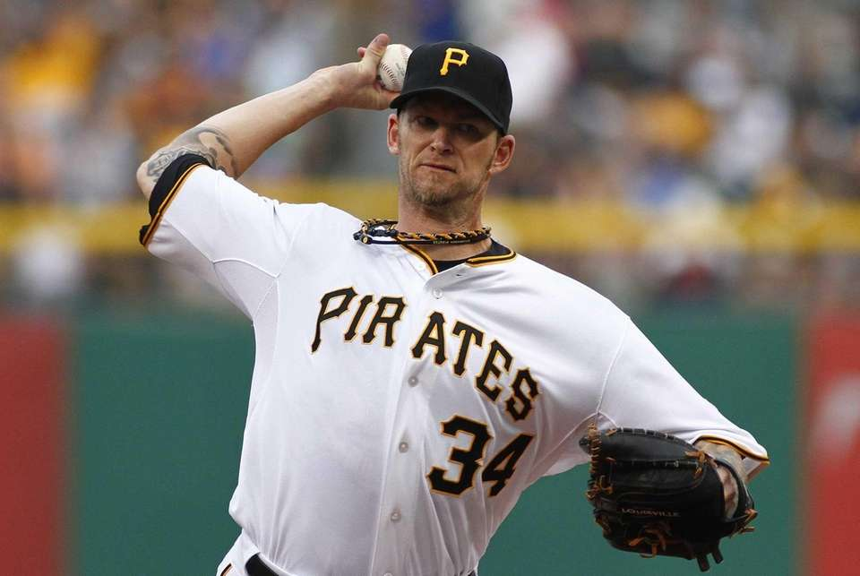 A.J. Burnett of the Pittsburgh Pirates pitches in