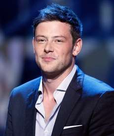 Actor Cory Monteith speaks onstage during the 2012