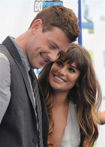 "Cory Monteith and Lea Michele, his ""Glee co-star"