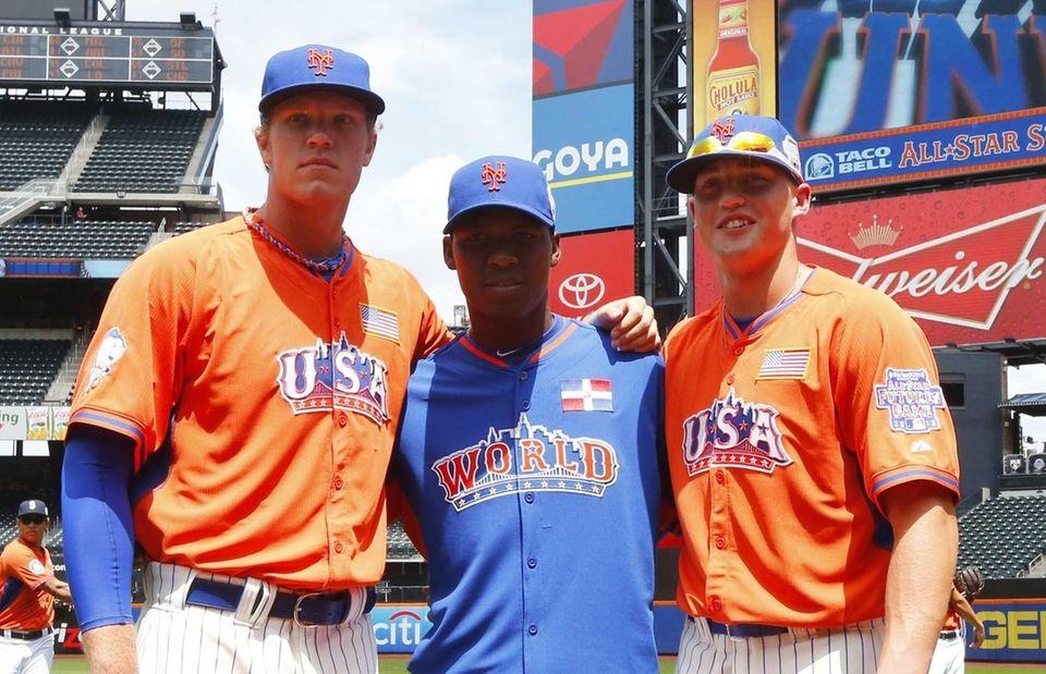 From left, Mets prospects Noah Syndergaard, Rafael Montero