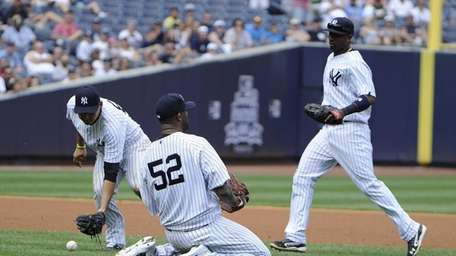 CC Sabathia couldn't reach the infield single by