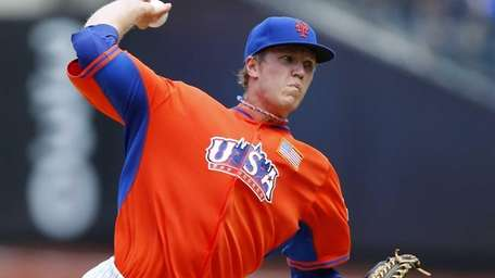 Mets prospect Noah Syndergaard of Team USA delivers