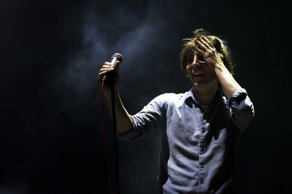 Lead singer Thomas Mars of French band Phoenix