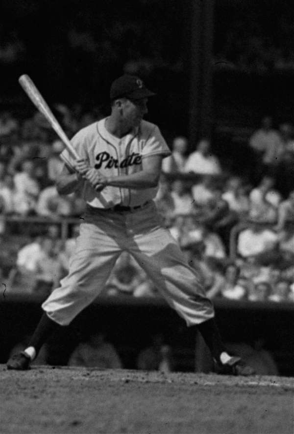 Ralph Kiner up to bat for the Pirates