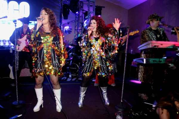 The cover band Disco Unlimited, here performing at