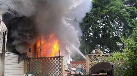 Fire officials said volunteers from Ronkonkoma, Lakeland, Holbrook