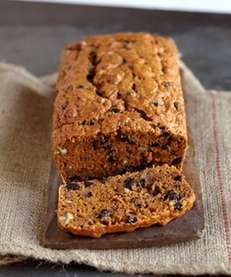 The sweet potato bread with blueberries can be