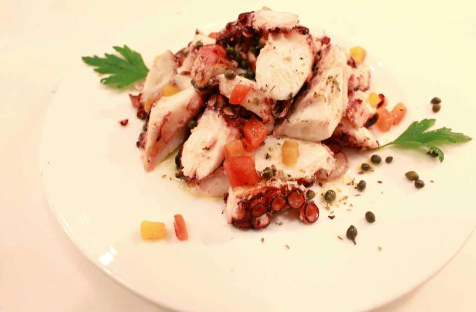 The grilled octopus is an exceptional opener at