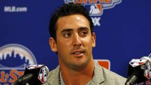 Matt Harvey speaks during All-Star media availability at
