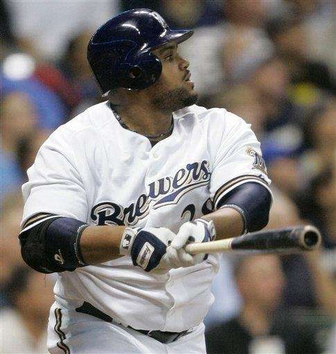 PRINCE FIELDER 2007, Milwaukee Brewers 50 home runs