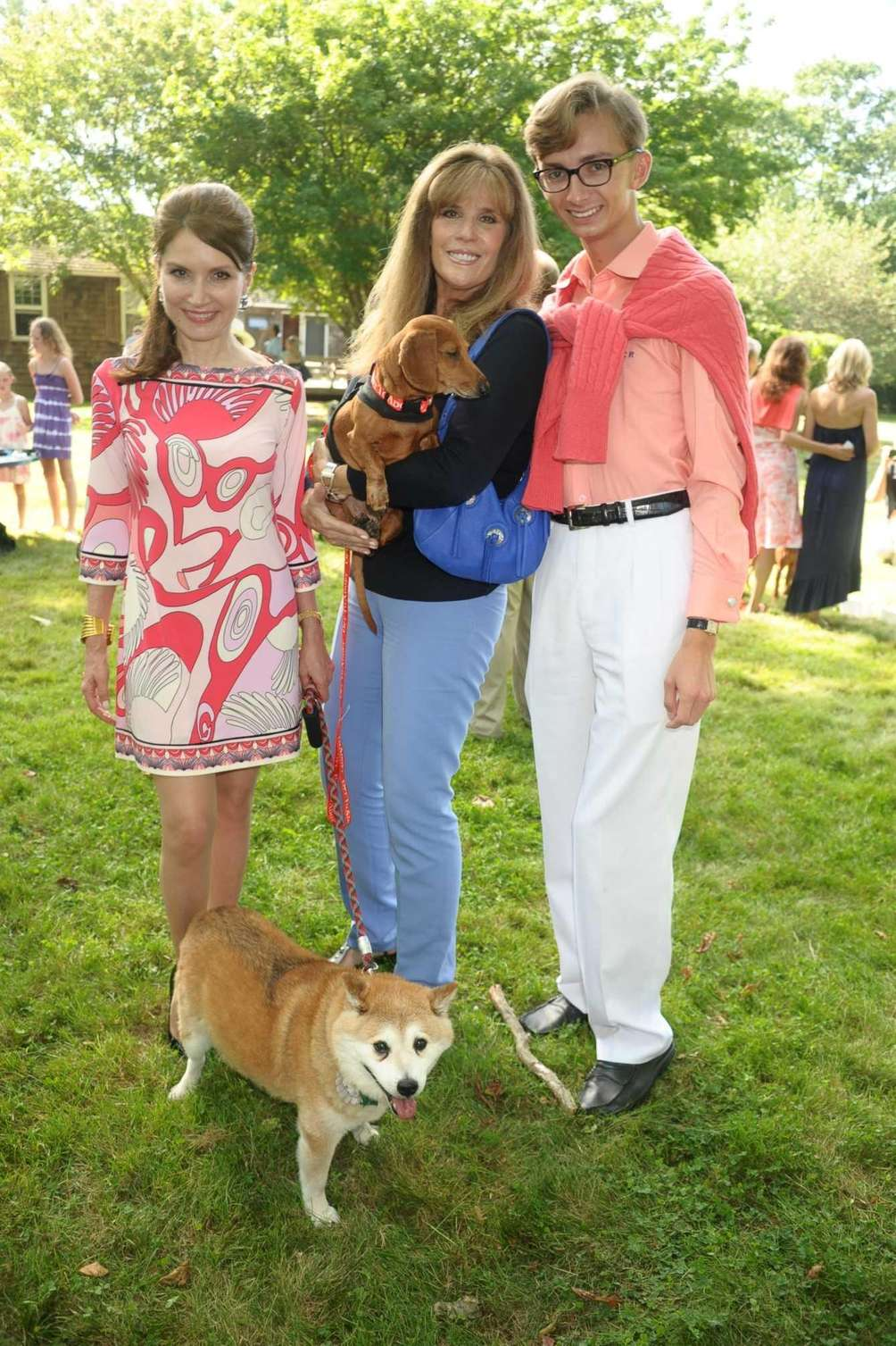 Jean Shafiroff and Rusty, Jill Rappaport and Ruby,