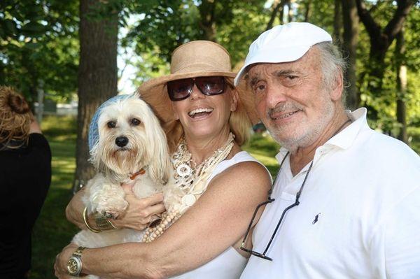 Caroline Lieberman, her dog Mumbai and Martin White