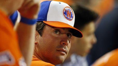 Matt Harvey looks on during the Home Run