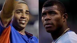 In this composite photo, Yoenis Cespedes of the