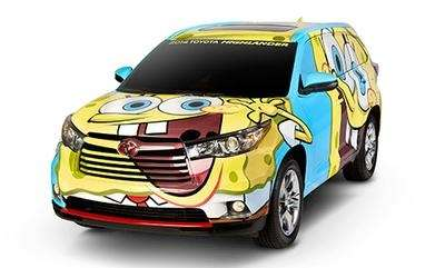This one-of-a-kind Spongebob Squarepants - themed Toyota Highlander