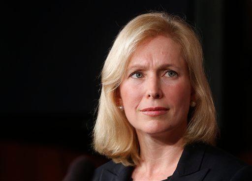 Sen. Kirsten Gillibrand, D-N.Y., listens as Sen. Ted