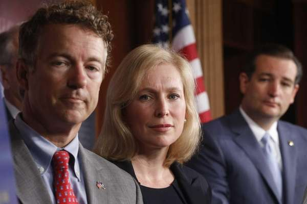 Sen. Kirsten Gillibrand, D-N.Y., Sen. Rand Paul, R-Ky.,
