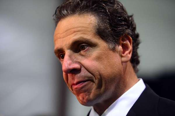 Governor Andrew Cuomo during a press conference to