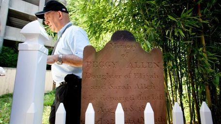 Howard Kroplick, North Hempstead town historian, walks by