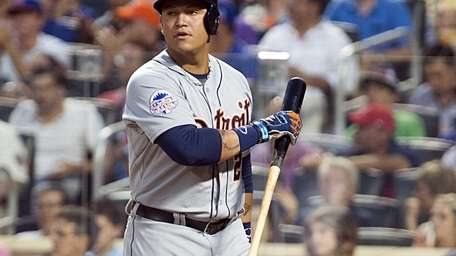 American League hitter Miguel Cabrera of the Detroit