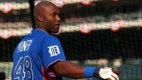 American League all-star Torii Hunter of the Detroit