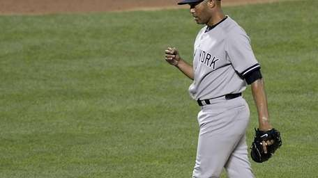 American League pitcher Mariano Rivera of the Yankees