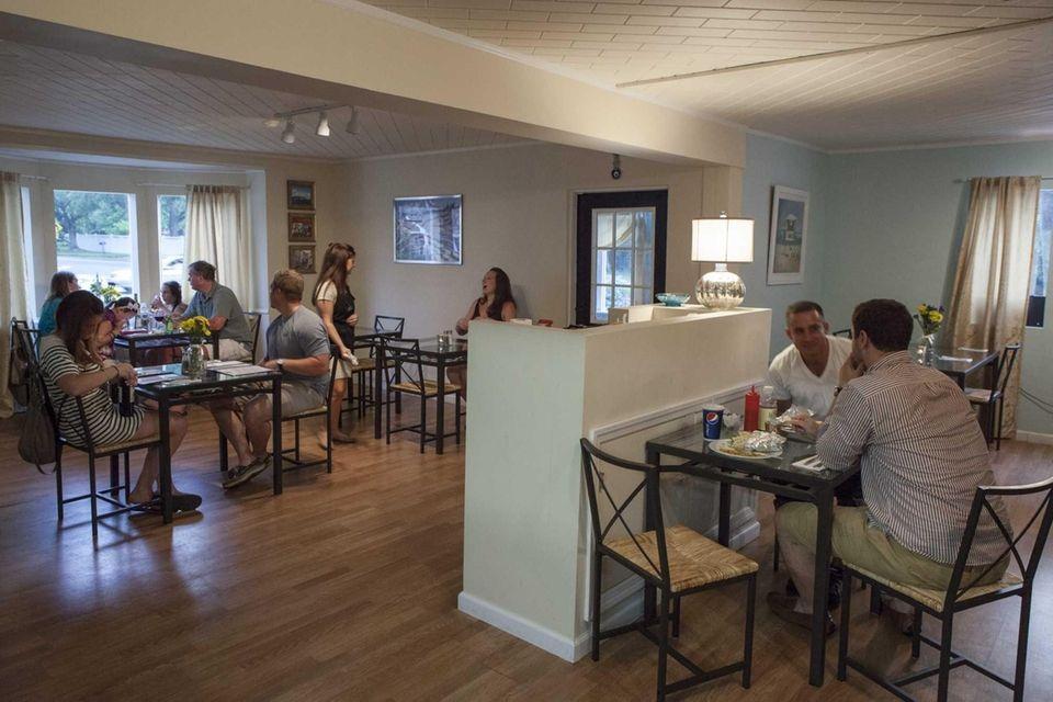 The dining room at Mavi Grill & Deli