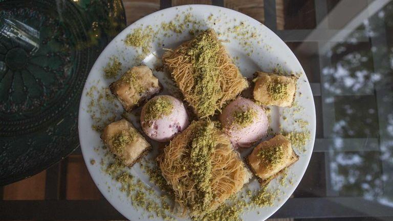 A sampler of desserts at Mavi Grill &