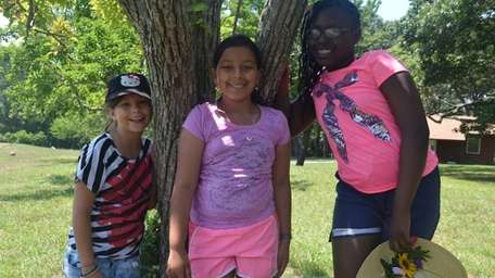 From left, Mikayla Smith, 9, of Long Beach,