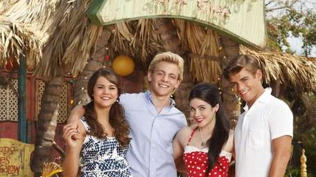 From left: Maia Mitchell, Ross Lynch, Grace Phipps
