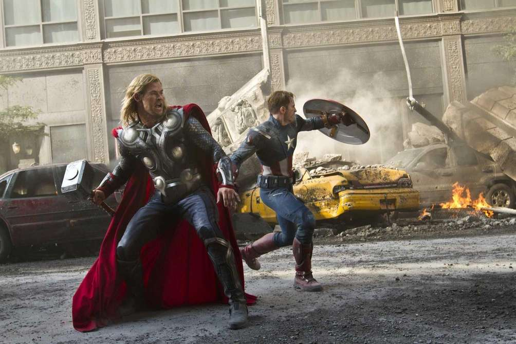 The combined box-office power of Iron Man, Thor,