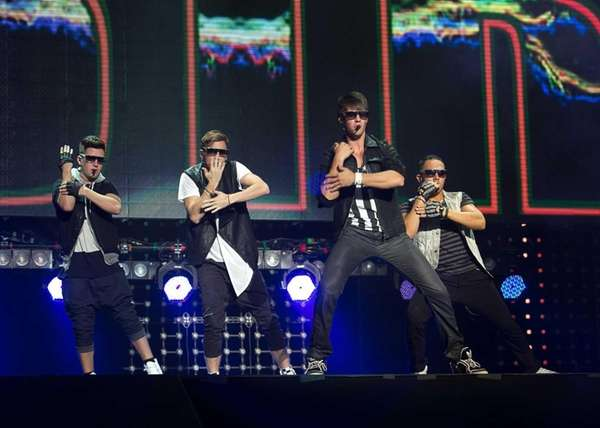 Big Time Rush performs at the Nikon Theater
