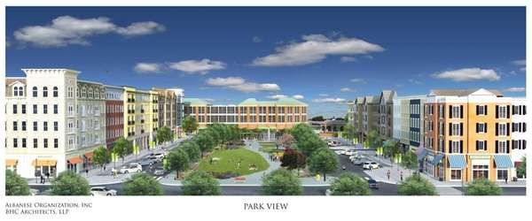 Rendering of new apartment building in Wyandanch, part