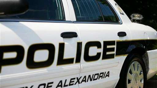 An Alexandria Police Department squad car is seen