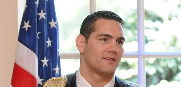 Baldwin native and UFC fighter Chris Weidman holds