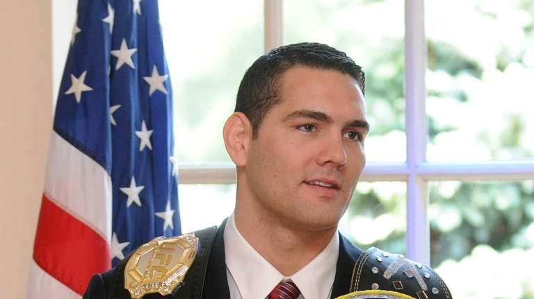 Baldwin native and UFC fighter Chris Weidman holds